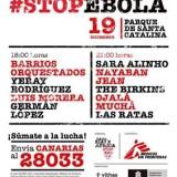 #Stopebola, un concierto multitudinario para ayudar a África en el Parque Santa Catalina