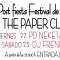 """Agenda fin de semana """"The Paper club"""""""