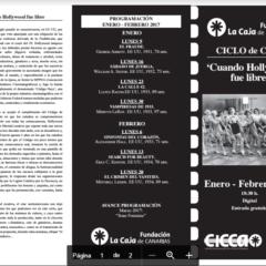 """Ciclo Cine: """"Cuando Hollywood fue libre"""", los lunes de Enero y febrero, en el CICCA"""