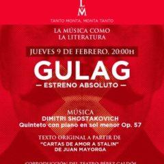 """Un trio artístico: Shostakovich-Barnes-Mayorga presentan """"Gulag"""" en el Teatro Pérez Galdós"""