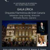 GALA LÍRICA. 10º Aniversario de la reapertura del Teatro Pérez Galdós