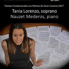 TANIA LORENZO, soprano NAUZET MEDEROS, piano en el Auditorio Alfredo Kraus