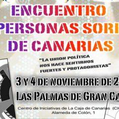 Encuentro de Personas Sordas de Canarias, días 3 y 4 de noviembre