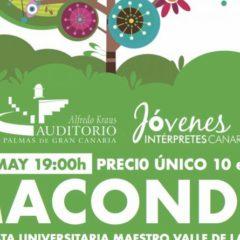 La Orquesta Universitaria Maestro Valle (OUMV) presenta Macondon en el Auditorio Alfredo Kraus