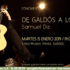 Concierto de Samuel Diz: 'De Galdós a Lorca'