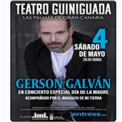 """Como cada año por el """"Día de la madre"""", Gerson Galván llega en concierto en el Teatro Guinguada"""