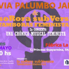 Tamboras Feministas en concierto