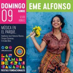 El ciclo que reúne los sonidos del mundo, #Músicaenelparque, presenta a la cantante y compositora cubana Eme Alfonso.