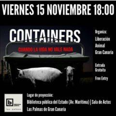 Proyección documental «Containers» contra el maltrato animal