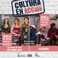 «Cultura en acción» con Trío Gabriel Rodó y la formación Atlántida