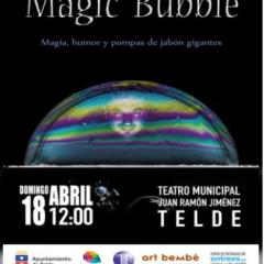 Magic Bubble, espectáculo con pompas de jabón, en el Teatro Municipal Juan Ramón Jiménez