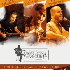 Cantautores en Vegueta (Fran Fernández, Luis Quintana y Rubén Rodríguez), en el CICCA