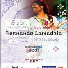 Fernando Lamadrid,uno de los bajistas más influyentes del panorama musical español, en el Teatro Guiniguada