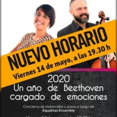 Concierto de violoncello y piano a cargo de Equalitas Ensemble en el Teatro Víctor Jara